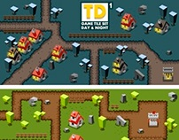Tower Defence Game Tile Set One