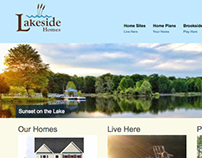 Lakeside Homes Website and Illustration