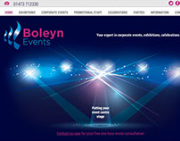 Boleyn Events Website and Branding