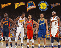 Warriors starting 5 in throwback uniforms