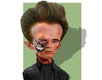 المدمر Terminator كاريكاتير cartoon