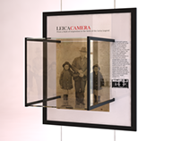 Concept of display cases for the Leica company