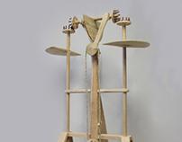 Kinetic sculpture ,,Crescent``
