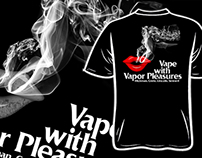 Vapor Pleasures Tshirt Design