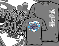 Swim Championship Shirt Design