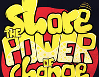 """Share the power of change"" T-shirt"