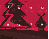 REDINK - Christmas calender, illustrasion