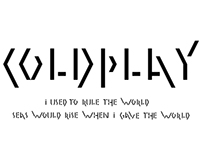 Typographie - Groupe Coldplay