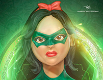 Disney princesses as DC super heroes.