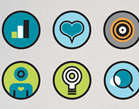 Icons as part of an employee engagement campaign.