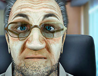OldMan_3D Modeling, Texture and Render