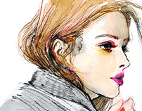 Fashion Illustrations for Milk X Magazine