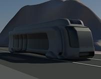 Embaded path Inter-city Bus. (3-D Max)