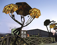 Umbrella Installation for R.A.G.U. cafe