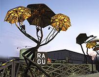 Umbrella Installation for R.A.G.U. cafe