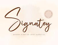 Signatey – Modern Script Font (Free Download)