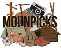 MOUNPICKS logo