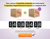 Landing Page Подсолнухи.ру