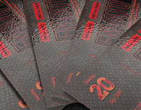 Elegant carbon event ticket
