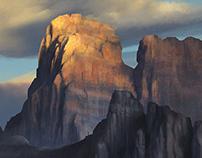 Photo Study - Sunset Mountains
