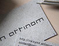 iraisynn.attinom font and business cards