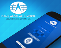 Bank Alfalah: Net Banking App Login UI Concept