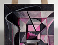 Painting: Loft in magenta