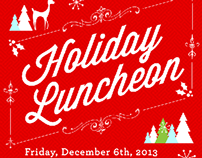 holiday luncheon invitation for washington post media on behance