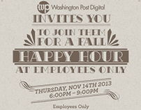 Happy Hour Invite for Washington Post Digital Clients