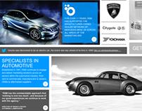 RSM Automotive web site concept & design
