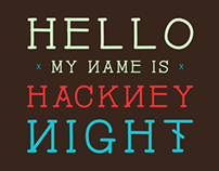 Hackney Night - font
