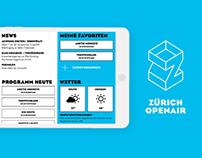 iPad App Concept Zurich Openair