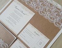 Rustic-Lace Invitation