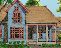 Classic House Sketch (Color)
