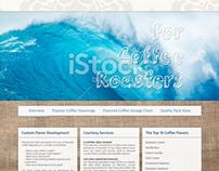 FlavorWaves single page web design mockup