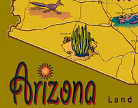Arizona digital map