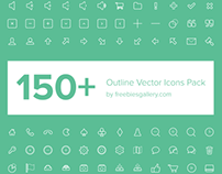 150+ Free Outline Vector Icons Pack
