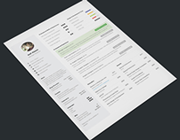 Simple and Clean One Page Resume Template