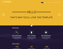 Hexagon - One Page PSD template