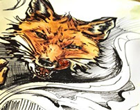 Foxy Tattoo sketch
