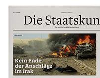 """Newspaper Design """"Die Staatskunst"""""""