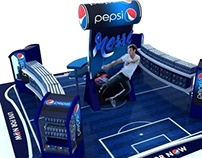 Pepsi Football Booth Display