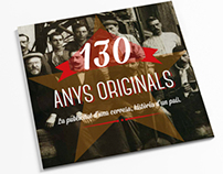 "Redesing of the book ""130 anys originals"" Estrella Damm"