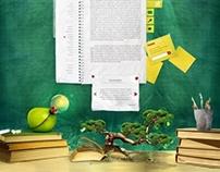 Education blog layout