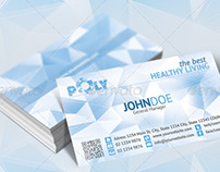 Health Business Card - Geometric polygon design