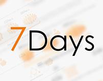 7days. Site design