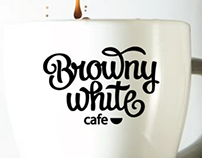"logo for cafe ""Browny white"""