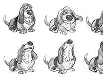 Dog,expression design sketch