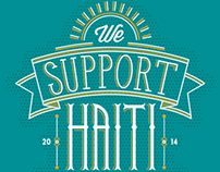 We Support Haiti T Shirt Design