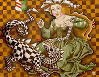 Elena Trupak painting